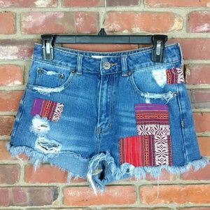 Bullhead Patchwork Mom Short